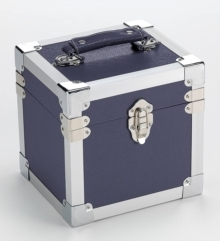 Light Blue - 7 Inch 50 Record Storge Carry Case