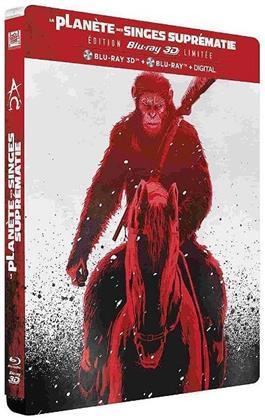 La Planète des Singes - Suprématie (2017) (Collector's Edition, Limited Edition, Steelbook, Blu-ray 3D + Blu-ray)