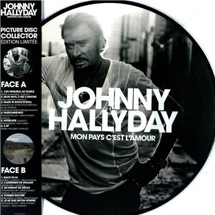 Johnny Hallyday - Mon pays c'est l'amour (2020 , Picture Disc, LP)