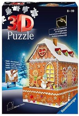 Lebkuchenhaus bei Nacht - 3D Puzzle, 216 Teile und 43 Zubehörteile