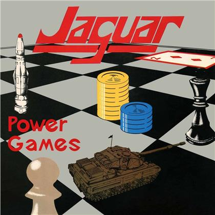 "Jaguar - Power Games (2020 Reissue, High Roller Records, Limited Black Vinyl, LP + 7"" Single)"