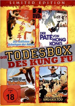 Die Todesbox des Kung Fu - Wong Lee - Der Mann mit der Todesfaust / Shaolin: Die tödlichen Schwingen des Adlers / Die Wut - Der Schrei - und der Tod / Kung Fu: Der Pate von Hong Kong (Limited Edition, 2 DVDs)