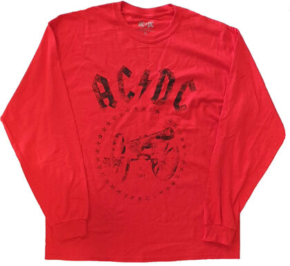 AC/DC Unisex Long Sleeved Tee - For Those About to Rock
