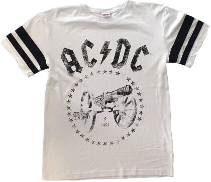 AC/DC Unisex Tee - For Those About to Rock American Football Style