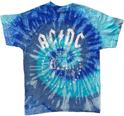 AC/DC Unisex Tee - For Those About to Rock Tie Die