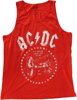 AC/DC Unisex Tee Vest - For Those About to Rock