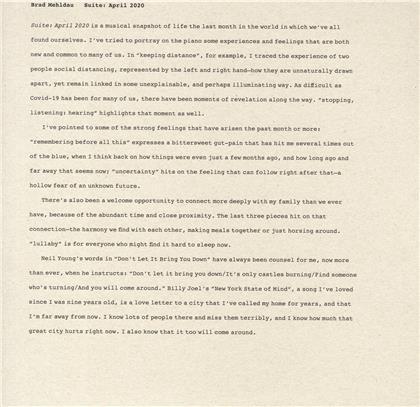 Brad Mehldau - Suite: April 2020 (LP)