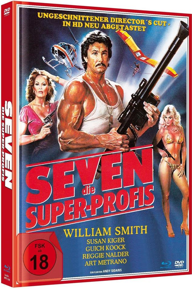 Seven - Die Super-Profis (1979) (Director's Cut, Limited Edition, Mediabook, Remastered, Uncut, Blu-ray + DVD)
