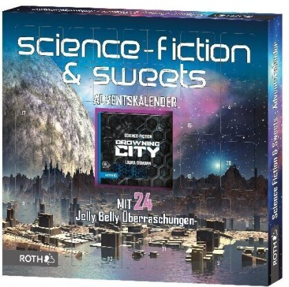 Science Fiction-Adventskalender mit Science Fiction-Lesespaß und 24xSweets