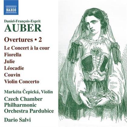 Daniel-François-Esprit Auber (1782-1871), Dario Salvi, Marketa Cepicka & Czech Chamber Philharmonic Orchestra - Overtures 2