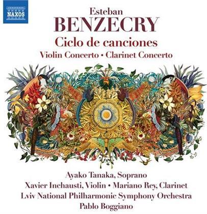 Esteban Benzecry, Pablo Boggiano, Ayako Tanaka, Mariano Rey, Xavier Inchausti, … - Ciclo De Canciones - Violin Concerto, Clarinet Concerto