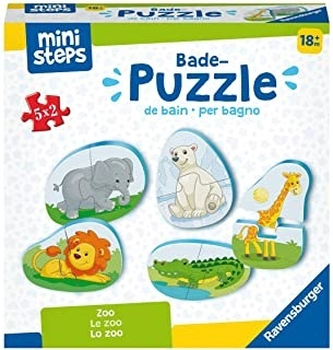 Zoo - Bade-Puzzles 5x 2 Teile