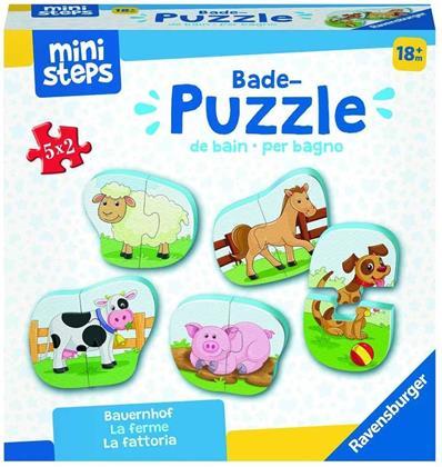 Bauernhof - Bade-Puzzles 5x 2 Teile