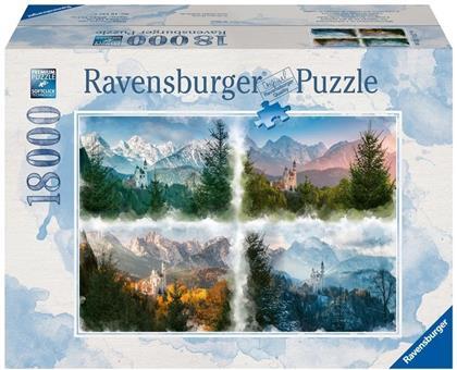 Märchenschloss in 4 Jahreszeiten - 18000 Teile Puzzle