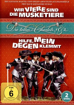 Die tollen Charlots 1 & 2 - Wir viere sind die Musketiere / Hilfe, mein Degen klemmt (2 DVDs)