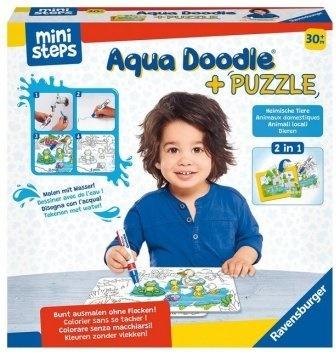 Aqua Doodle® Puzzle: Heimische Tiere - 2x 6 Teile Puzzles