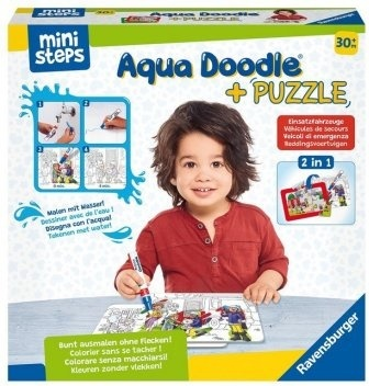 Aqua Doodle® Puzzle: Einsatzfahrzeuge - 2x 6 Teile Puzzles