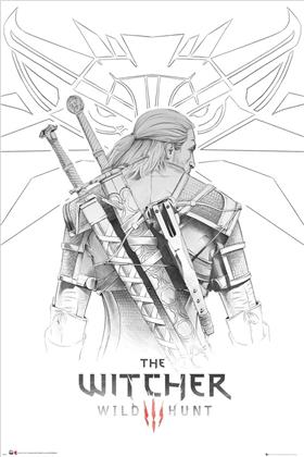 The Witcher: Geralt Sketch - Maxi Poster