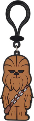 Star Wars Chewbacca Pvc Soft Touch Bag Clip