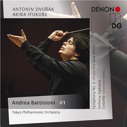 Antonin Dvorák (1841-1904), Akira Ifukube, Andrea Battistoni & Tokyo Philharmonic Orchestra - Symphony 9 From The New World, - Sinfonia Tapkara, Godzilla (Symphonic Fantasy)