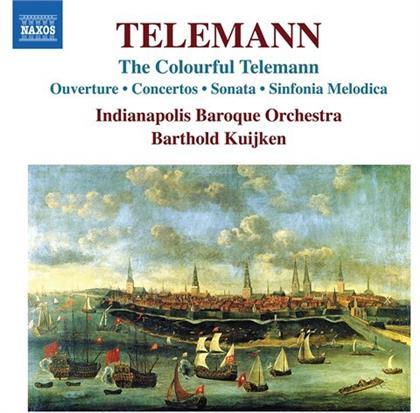 Indianapolis Baroque Orchestra, Georg Philipp Telemann (1681-1767) & Barthold Kuijken - Colourful Telemann