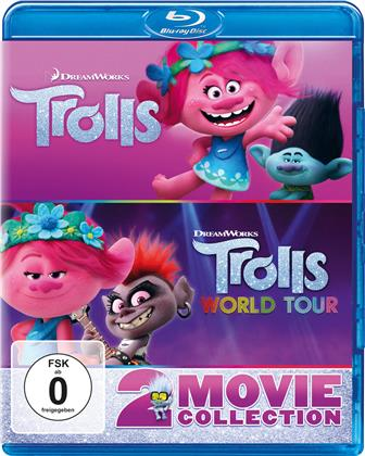 Trolls + Trolls World Tour: Trolls 2 - 2 Movie Collection (2 Blu-rays)
