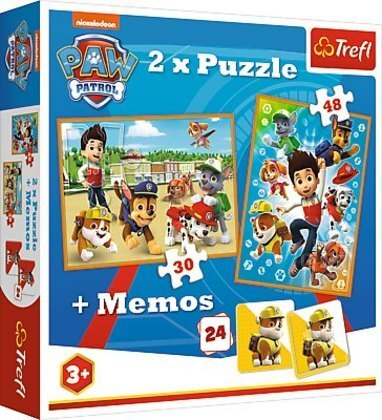 2in1 Puzzles + Memo - PAW Patrol