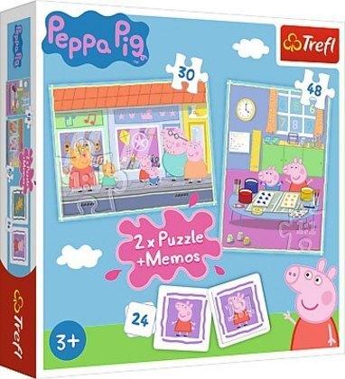 2in1 Puzzles + Memo - Peppa Pig