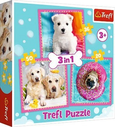 3 in 1 Puzzle - Hunde
