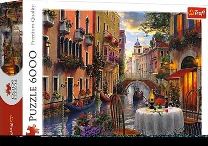 Romantisches Abendessen in Venedig - 6000 Teile Puzzle