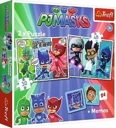 2in1 Puzzles + Memo - PJ Masks