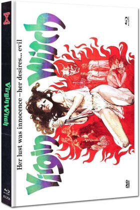 Virgin Witch (1972) (Eurocult Collection, Cover E, Limited Edition, Mediabook, Uncut, Blu-ray + DVD)