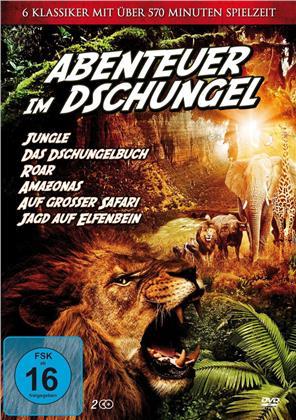 Abenteuer im Dschungel - Jungle / Das Dschungelbuch / Roar / Amazonas / Auf grosser Safari / Jagd auf Elfenbein (2 DVDs)