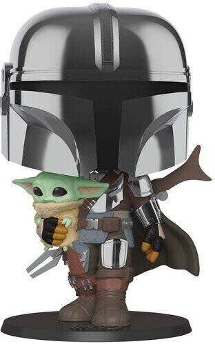 Funko Pop! Star Wars: - Mandalorian - Chrome Mandalorian with Child (25cm)