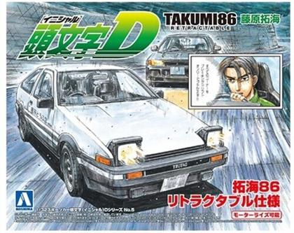 Aoshima - Initial-D #05 1/32 Takumi 86 Retractable (Toyota)