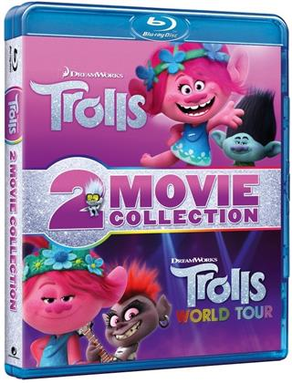 Trolls + Trolls World Tour - 2 Movie Collection (2 Blu-rays)