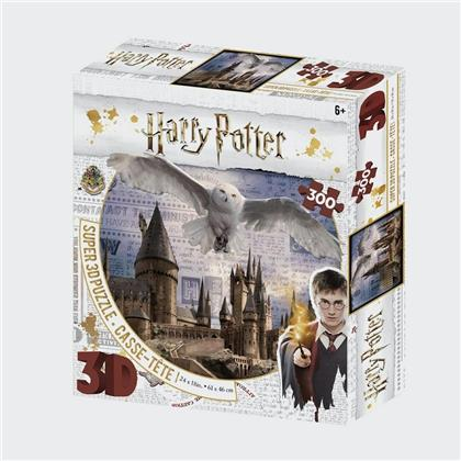 Harry Potter: Hogwarts & Hedwig - 300 Teile 3D Effect Puzzle