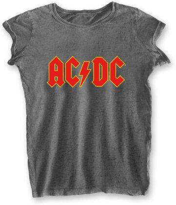 AC/DC Ladies Tee - Logo (Burn Out)