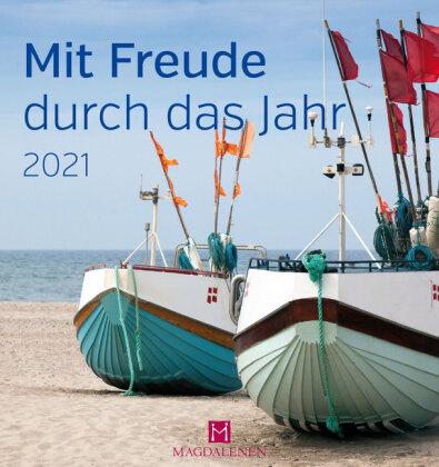 Mit Freude durch das Jahr 2021 Postkartenkalender
