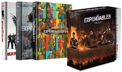 The Expendables Trilogy (Limited Edition, Mediabook, 3 Blu-rays + 3 DVDs)
