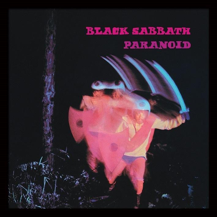 Black Sabbath: Paranoid Album Cover - Framed Print