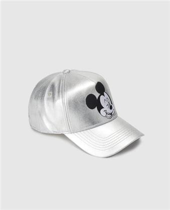 Disney - Mickey Mouse Silver Curved Bill Cap