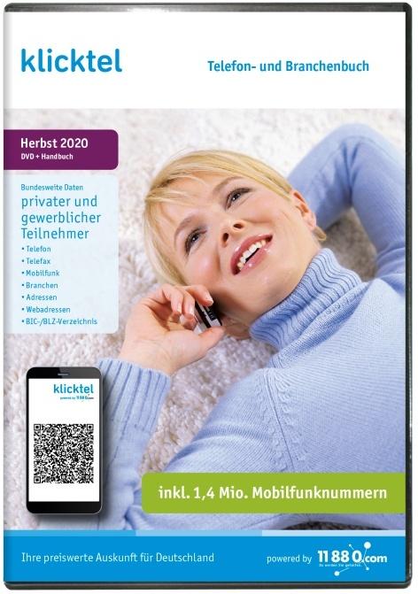 klicktel Telefon- und Branchenbuch + Rückwärtssuche Herbst 2020