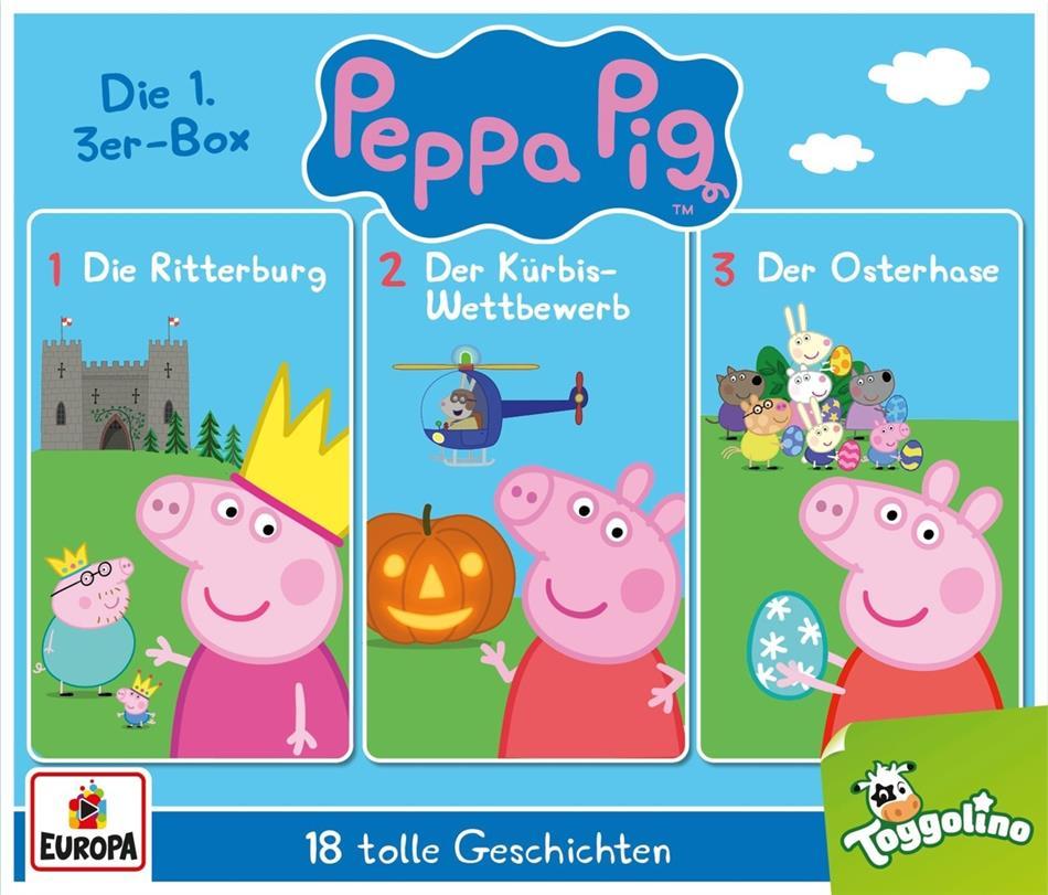 Peppa Pig Hörspiele - 01/3er Box (Folgen 1, 2, 3) (3 CDs)