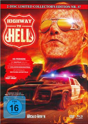 Highway to Hell (1991) (Cover B, Collector's Edition Limitata, Mediabook, Uncut, Blu-ray + DVD)