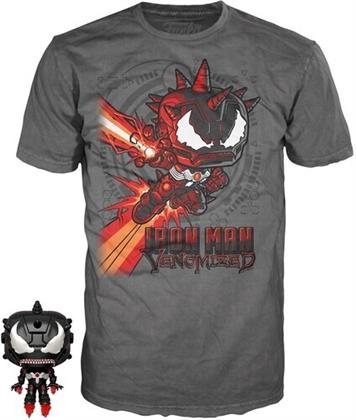 Funko Pocket Pop! & Tee: - Marvel Venom - Iron Man (12PC)