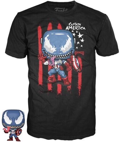 Funko Pocket Pop! & Tee: - Marvel Venom - Captain America (12PC)