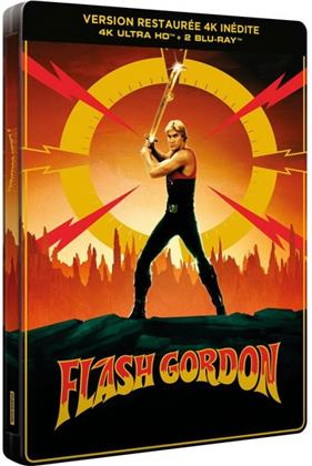 Flash Gordon (1980) (40th Anniversary Edition, Limited Edition, Steelbook, 4K Ultra HD + 2 Blu-rays)