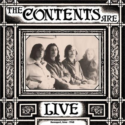 The Contents Are - Live Davenport Iowa 1968 (Digipack)