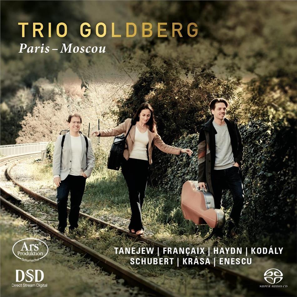 Trio Goldberg, Sergej Iwanowitsch Tanejew (1856-1915), Jean Françaix (1912-1997), Joseph Haydn (1732-1809), Zoltán Kodály (1882-1967), … - Paris-Moscou (SACD)